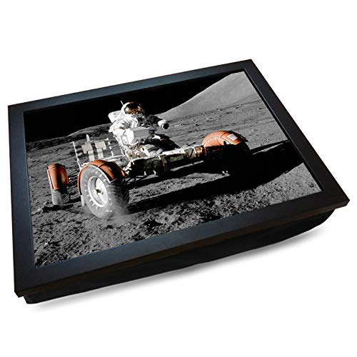 Deluxe Cushioned Lap Tray | Lunar Moon Buggy | Wooden Frame | Bean Bag Cushion Base | #DN
