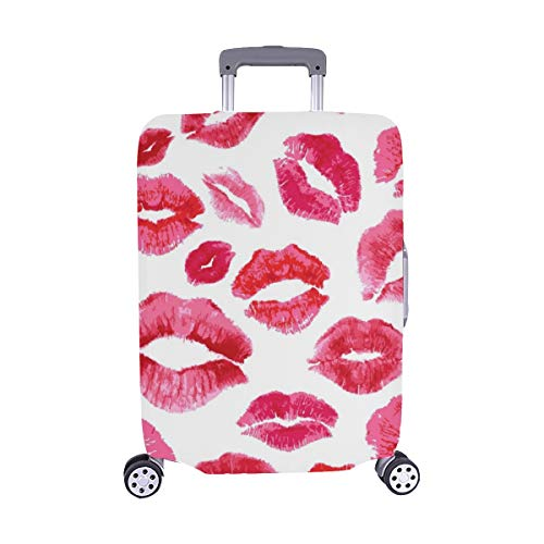 Lips Prints Spandex Trolley Case Travel Luggage Protector Suitcase Cover 28.5 X 20.5 Inch