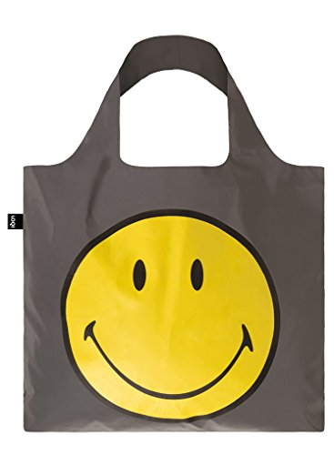 LOQI Artist Reflective Smiley Bag Strandtasche, 50 cm, 20 liters, Mehrfarbig (Multicolour)