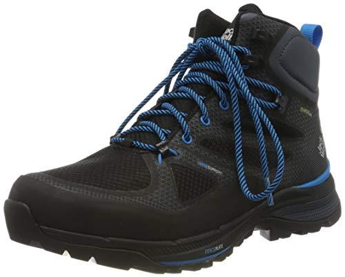 Jack Wolfskin Herren Force Striker Texapore MID M Trekking- & Wanderstiefel, Schwarz (Black/Blue 6058), 44 EU