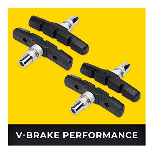 V-Brake Zapatas Freno 2 Par 70mm Symmetric I para Shimano, Tektro, Avid,...