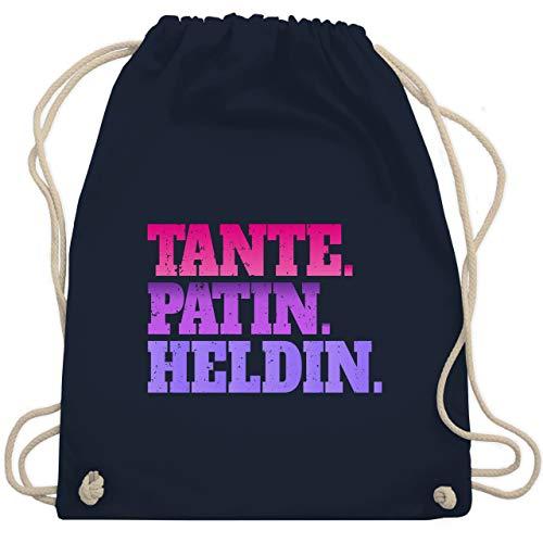 Shirtracer Schwester & Tante - Tante. Patin. Heldin - bunt - Unisize - Navy Blau - Statement - WM110 - Turnbeutel und Stoffbeutel aus Baumwolle