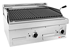 Gaz Lavasteingrill (14 kW) - Grille de barbecue incenable | Barbecue à gaz | Torse à chaud | Pierres de lave | Barbecue de table | Gastronomie