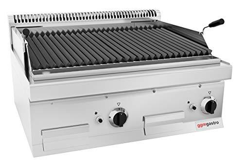 Gas Lavasteingrill (14 kW) - Grillrost neigbar | Gasgrill | Glühsteingrill | Lavasteine | Tischgrill | Gastronomie