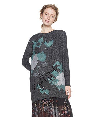Desigual TS_kunik suéter, (Gris Vigore Oscuro 2043), Medium para Mujer