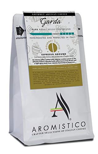 AROMISTICO | Intense Bold Dark Roast | Premium Italian Coffee | Garda Selection Blend | Dark Chocolate Truffle, Cinnamon and Caramel-Like | Suitable for All Coffee Makers