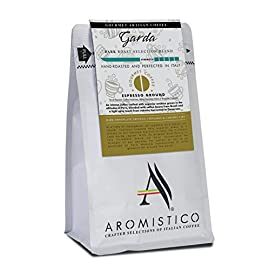AROMISTICO | Intense Bold Dark Roast | Premium Espresso Ground Coffee | Garda Blend for Espresso Machines, Reusable…