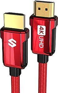 🎮【HDMI Kabel 4K HDR】- Silkland 4K HDMI Kabel unterstützt HDMI 2.0b, einschließlich 18 Gbps, Spiegel- und Erweiterungsmodus, 4K Ultra HD, 2160P, QHD, 1440p, HD 1080p, HDCP 2.2/1.4(Blu-ray), 48-Bit Deep Color, 3D, Audio Return (ARC), Dolby TrueHD 7.1 A...