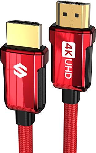 Cavo HDMI 4K 2m, Silkland Cavo HDMI 2.0 da 18Gbps ad Alta Velocità, ARC, 4K HDR, 3D, 2160P, 1080P, Ethernet, Cavetto HDMI Intrecciato 30AWG in Lega di Zinco, Blu-ray, PS4 5, Xbox, Switch, Proiettore