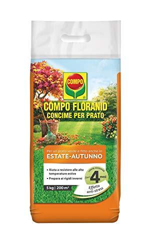 COMPO FLORANID Concime per Prato, Per un Prato Verde e Fitto anche in Estate e Autunno, 5 kg