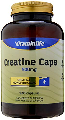 Creatine 500Mg, Vitaminlife, 120 Cápsulas