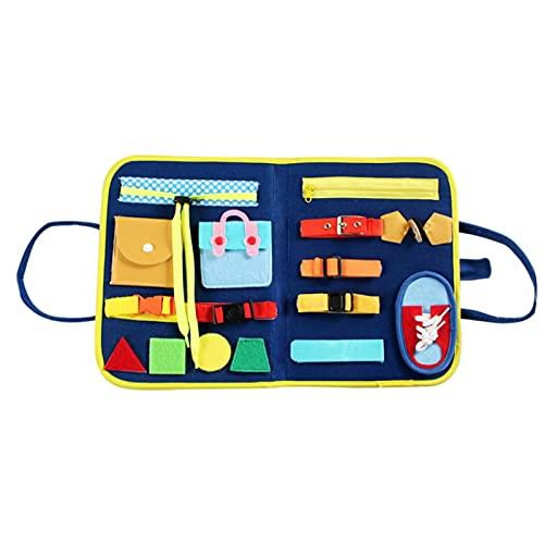 fllyiingu Montessori Spielzeug - Frühpädagogisches Lernspielzeug Für Lernen Grundleben Kleidungsfähigkeiten, Beschäftigtes Brett Für Kleinkinder 1 2 3 4-jährige