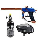 Maddog Azodin Blitz 4 HPA Paintball Gun Starter Package - Blue/Orange