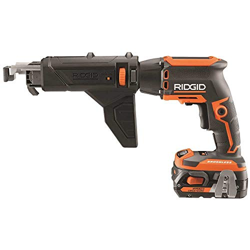 Rigid R86630K 18-Volt Brushless 1/4 Inch Drywall Screwdriver Kit with Collated Attachment