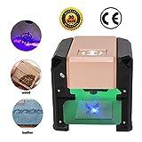 3000mw Laser Incisore Per Legno, Mini Gravure Macchina Scultura Legno, Compatible per Win XP/7/8/10/MAC, Area di Lavoro 75mm * 75mm, USB Strumenti per Incisione Fai da te, con certificazione CE