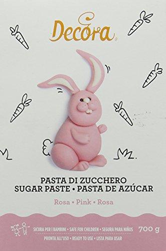 Decora 9310112 Pasta Di Zucchero Rosa 700 G