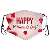 𝐌𝐚𝐬𝐜𝐚𝐫𝐢𝐥𝐥𝐚𝐬 Adultos Lavable Reutilizable Dibujos Día de San Valentín Parejas Mujer Hombre Protección Algodón Tela para Actividades al Aire Libre Ciclismo Viajes Fiesta (#01)