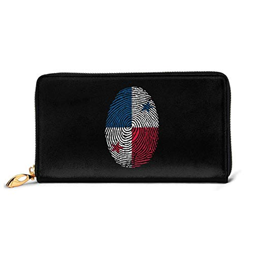 UXZTU Flagge von Deutschland Damen Original Leder Geldbörse Reißverschluss um Brieftasche Clutch Brieftasche Geldbörse