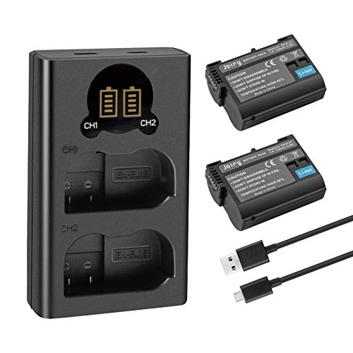 2X EN-EL15 EN-EL15A Batería de Repuesto Compatible con Nikon d750 d7200 d7100 d800 d850 d810 d610 d500 Batería y More