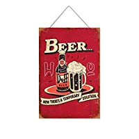 BUFFビール木製のリストプラーク木の看板ぶら下げ木製絵画パーソナライズされた広告ヴィンテージウォールサイン装飾ポスターアートサイン