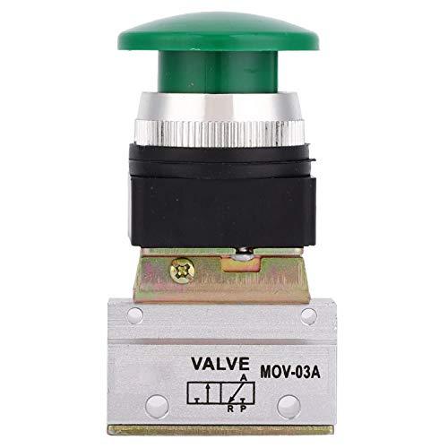 Aviviva Válvula mecánica de Aire MOV-03A 2 Posiciones 3 vías G1 / 8 Interruptor de botón de válvula mecánica neumática MOV-03A