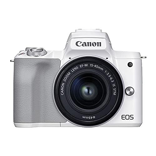Câmera Fotográfica EOS M50 Mark II EF-M 15-45mm Canon Branca