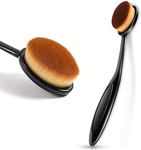 Professionnel Noir Ovale Nouveauté Brosse À Dents Maquillage Brosse Crème Contour Poudre Anti-cernes Fondation Eyeliner Cosmétiques Outil (2 PCS)