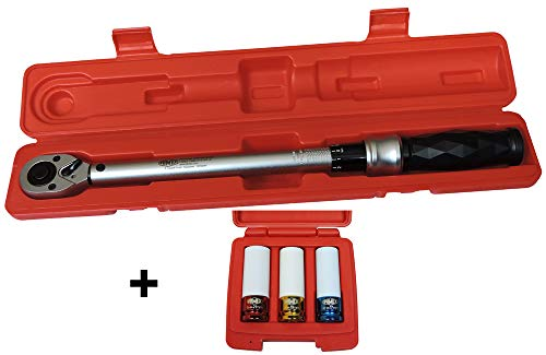 Famex 10872 momentsleutel, 6,3 mm (1/4 inch)-aandrijving, meting in beide draairichtingen, 6-30 Nm 40-210 Nm-Sparset mit FAMEX 10808