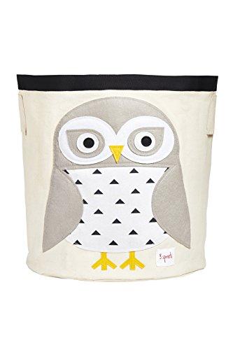 3 Sprouts Sprouts Aufbewahrungsbehälter aus Segeltuch – Wäschekorb und Spielzeugkorb für Babys und Kinder