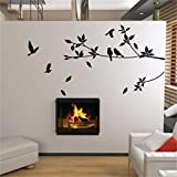 MWLSW Etiqueta de la Pared Ebay   Flying Bird Tree Branch Vinilo Cortado Pegatinas de Pared decoración del Dormitorio 8171. extraíble DIY calcomanías para el hogar Animal Mural Art 3.5