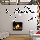 MWLSW Etiqueta de la Pared EbayFlying Bird Tree Branch Vinilo Cortado Pegatinas de Pared decoración del Dormitorio 8171. extraíble DIY calcomanías para el hogar Animal Mural Art 3.5