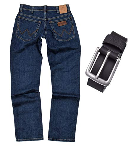 Wrangler Texas Stretch heren jeans regular fit incl. riem