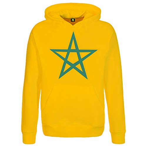 absenda Marokko Kapuzenpullover | Marocco | Maroc | Islam | Fahne | Flagge | Morocco Gelb M