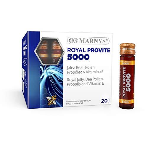 Marny's Jalea Real pura 3.850 mg - Royal Provite 5000 -Máxima energía para periodos especiales - 20 viales 416 g