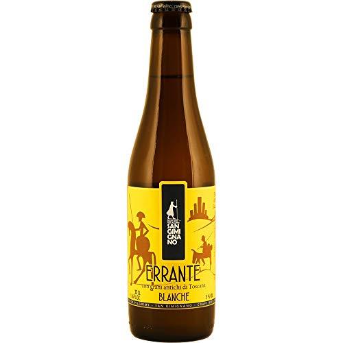San Gimignano Cerveza Clara artesana Errante SIN Gluten - 100% Bio - 33 cl (Paquete de 12 Piezas)