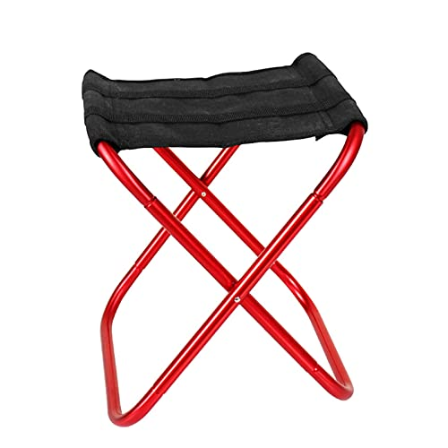 Wopam Sillas plegables ultraligeras de aleación de aluminio en forma de X, tamaño compacto, fácil de transportar para la pesca