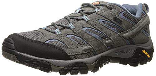 Merrell Women's Moab 2 Waterproof Hiking Shoe Granite, 9.5 W US