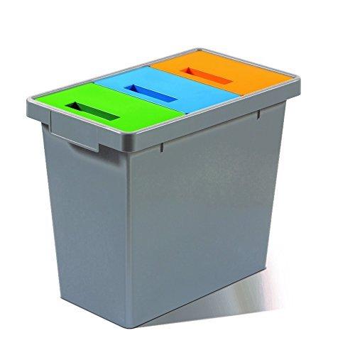 Mattiussi Ecologia Polymax Mini Sistema Modulare, Grigio Scuro, 49x29x42 cm