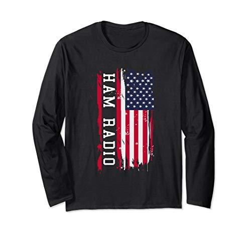 Amateur Ham Radio, Proud USA Radio DJ Long Sleeve T-Shirt