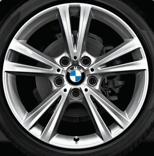 Original BMW Alufelge X1 F48 Doppelspeiche 385 Refelx-Silberin 17 Zoll