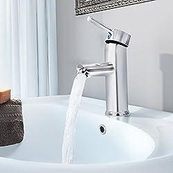 Aquamarin–Waschbeckenarmatur, Inkl. Montagematerial Und Flexible Rohre