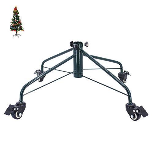 Ouvin - Soporte para árbol de Navidad con ruedas, base de metal de hierro de 4 pies, decoraciones de fiesta,...