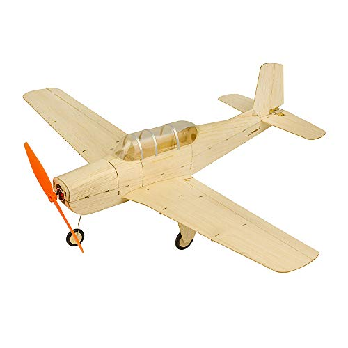Mini RC Plane KIT Beechcraft T-34 Fly Aircraft, 18.5'' Laser Cut Balsa Wood Model Airplane Kits to Build, DIY 4CH Electric Remote Control RC Aeroplane for Adults Indoor Parkflyer (KIT+Motor+ESC+Servo)