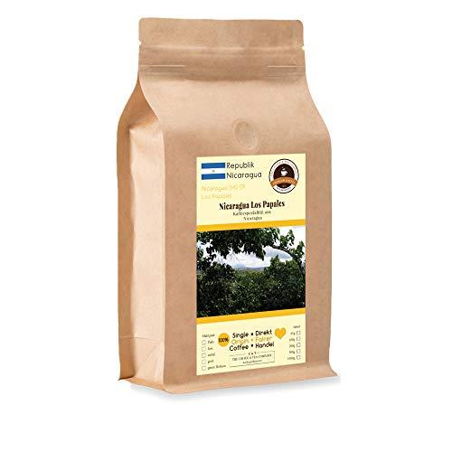 Kaffee Globetrotter - Kaffee Mit Herz - Nicaragua Los Papales - 1000 g Ganze Bohne - für Kaffee-Vollautomat, - Spitzenkaffee Fair Gehandelt Unterstützt Soziale Projekte