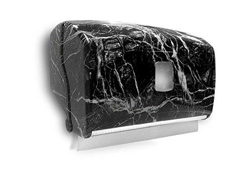 Italy 4001/DL-M dispenser voor papieren handdoeken/van rol, marmeren zwart