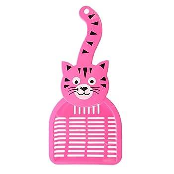 SODIAL(R) Pelle a litiere de chat plastique de la couleur de rose rouge