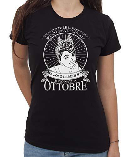 IMAGE T-Shirt Solo Le Migliori Donne Nascono A Ottobre Idea Regalo Compleanno - Eventi - by