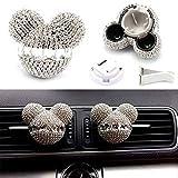 1 Pair Charm Auto Mouse Sparkling Car Fragrance Air Freshener Holder Auto Vent Perfume Diffuser