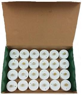 شموع اصطناعية بضوء ال اي ي مضطرب تعمل بالبطارية (مجموعة من 24 قطعة)