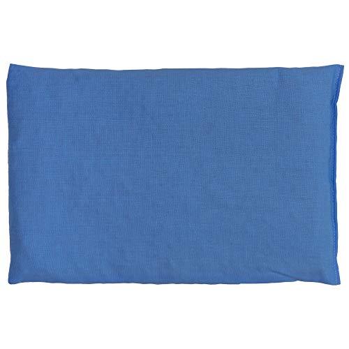 Cuscino termico - Semi di lino - azzurro - 30x20cm - Terapia caldo e freddo